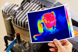 thermography of a compressor